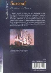 Surcouf ; capitaine de corsaire - 4ème de couverture - Format classique