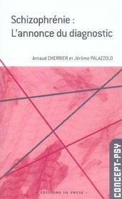 Schizophrenie : L'Annonce Du Diagnostic - Intérieur - Format classique