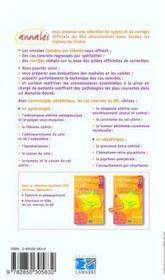 Gynecologie Et Obstetrique Les Cas Concrets Du D.E. - 4ème de couverture - Format classique
