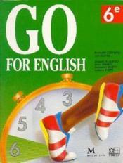 Go for english 6e (afrique de l'ouest) - Couverture - Format classique