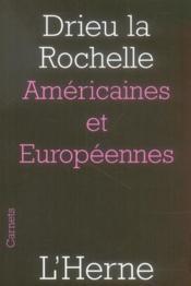 Americaines Et Europeennes - Couverture - Format classique