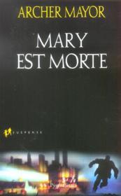 Mary Est Morte - Couverture - Format classique