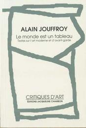 Le monde est un tableau : textes sur l'art moderne et d'avant garde - Intérieur - Format classique