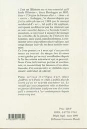 Le monde est un tableau : textes sur l'art moderne et d'avant garde - 4ème de couverture - Format classique