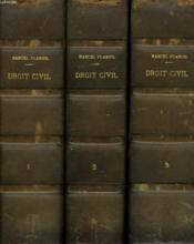 TRAITE ELEMENTAIRE DE DROIT CIVIL EN 3 TOMES. TOME 1: PRINCIPES GENERAUX, PERSONNES, BIENS. 3e EDITION / TOME 2 : OBLIGATONS, CONTRATS, SURETES REELLES. 2e EDITION. / TOME 3: REGIMES MATRIMONIAUX, SUCCESSIONS, LIBERALITES. 2e EDITION. - Couverture - Format classique
