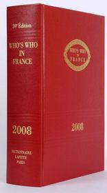 Vente livre :  Who's who in France (édition 2008)  - Collectif