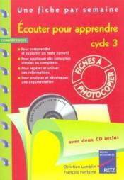 Écouter pour apprendre ; cycle 3 ; fiches à photocopier - Couverture - Format classique