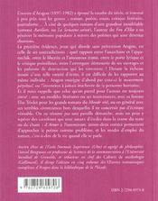 Le Vocabulaire D'Aragon - 4ème de couverture - Format classique