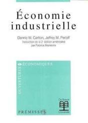 Economie Industrielle - Couverture - Format classique