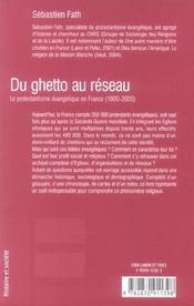 Du Ghetto Au Reseau - 4ème de couverture - Format classique