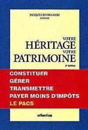Heritage et patrimoine - Couverture - Format classique