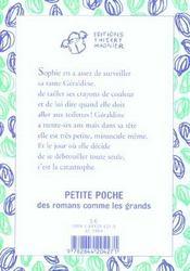 Tatie Gribouille - 4ème de couverture - Format classique