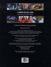 L'annee rallyes 2006 - 4ème de couverture - Format classique