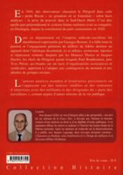 Les communistes en perigord (1917-1958) - 4ème de couverture - Format classique