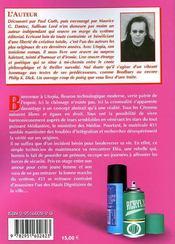 Utopia ; Penser Nuit Gravement A La Sante - 4ème de couverture - Format classique