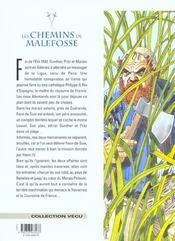 Les chemins de Malefosse t.11 ; le feu sur l'eau - 4ème de couverture - Format classique