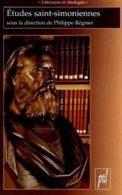 Études saint-simoniennes - Couverture - Format classique