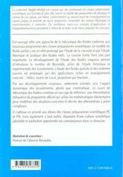 Mecanique Des Fluides 2e Annee Pc-Pc*-Psi-Psi* Cours Et Exercices Corriges - 4ème de couverture - Format classique
