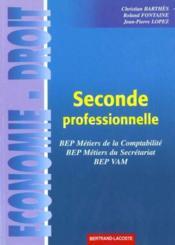 Economie-Droit 2de Professionnelle/Fontaine - Couverture - Format classique