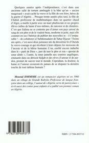 Algerie Terre De Paroxysmes - 4ème de couverture - Format classique
