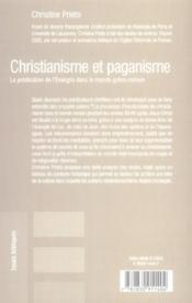 Christianisme Et Paganisme - 4ème de couverture - Format classique