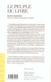 Le Peuple Du Livre ; Canon, Sens Et Autorite - 4ème de couverture - Format classique