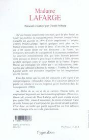 Madame Lafarge - 4ème de couverture - Format classique