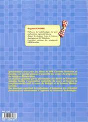 Nutrition-alimentation ; BEP sanitaires et sociales ; fiches - 4ème de couverture - Format classique
