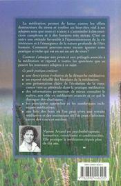 S'initier a la meditation ; guide pour debutants - 4ème de couverture - Format classique