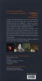Abbayes en France, en Belgique et en Suisse ; lieux de sejour , lieux de silence (5e edition) - 4ème de couverture - Format classique