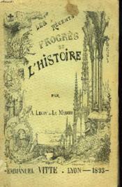 Les Recents Progres De L'Histoire - Couverture - Format classique