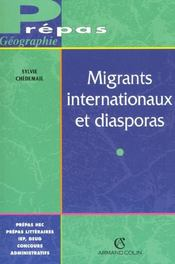 Vente livre :  Migrants Internationaux Et Diasporas  - Sylvie Chedemail