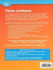 Pieces Poetiques 6/10 Ans - 4ème de couverture - Format classique