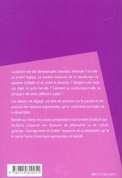 Dissertations Sur La Passion - 4ème de couverture - Format classique
