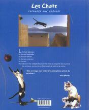 Les chats racontés aux enfants - 4ème de couverture - Format classique