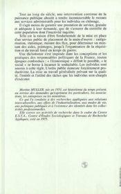 Pointage Ou Le Placement. Histoire De L'Anpe. - 4ème de couverture - Format classique