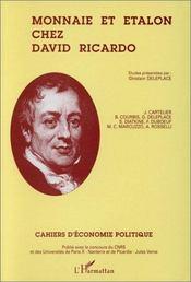 Monnaie Et Etalon Chez David Ricardo - Couverture - Format classique