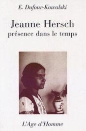 Jeanne Hersch - Couverture - Format classique