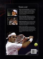 Tennis 2006 - 4ème de couverture - Format classique