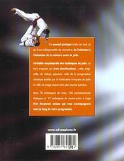 Judo pratique ; du débutant à la ceinture noire - 4ème de couverture - Format classique