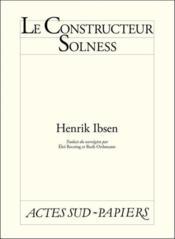 Le Constructeur Solness - Couverture - Format classique