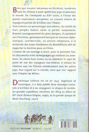 Voyageurs chinois ; à la découverte du monde - 4ème de couverture - Format classique
