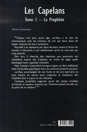 Les capelans t.1 ; la prophétie - 4ème de couverture - Format classique
