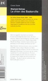 Sherlock holmes t.6 ; le chien des Baskerville - 4ème de couverture - Format classique
