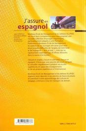 J'Assure En Espagnol Hit Parade Des Erreurs Relevees Aux Concours D'Entree Aux Grandes Ecoles - 4ème de couverture - Format classique