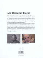 Derniers Poilus - 4ème de couverture - Format classique