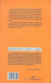 Le Financement De La Petite Entreprise En Afrique - 4ème de couverture - Format classique
