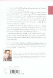Antihumanisme intégral ? l'augustinisme de jacques maritain - 4ème de couverture - Format classique