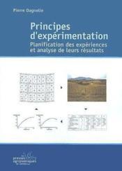 Principes d'expérimentation ; planification des expériences et analyse de leurs résultats - Couverture - Format classique