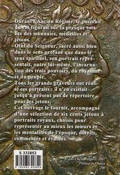 Bustes des rois et des reines de France sur les jetons de l'Ancien Régime - 4ème de couverture - Format classique